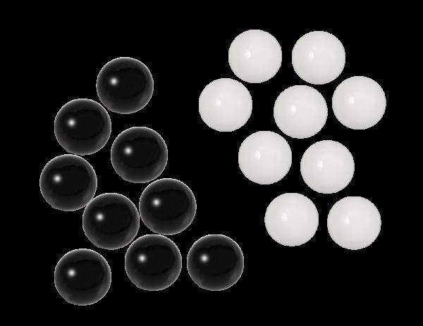 Ballotagekugeln weiß und schwarz
