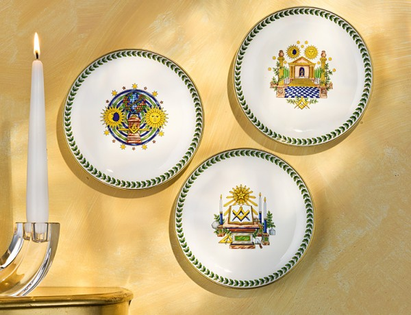 Set of 3 wall plates 16 cm THE 3 DEGREES