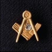 Pin Winkel & Zirkel Kristall