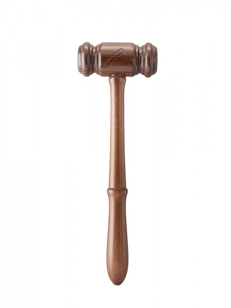 Worshipful Mster Gavel with a Square