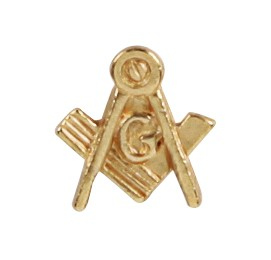 "Lapel pin Square & Compass with ""G"""