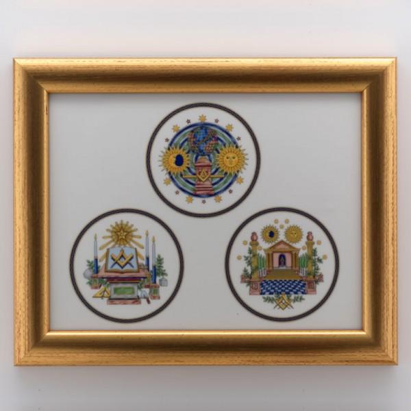 Porcelain mural THE 3 DEGREES