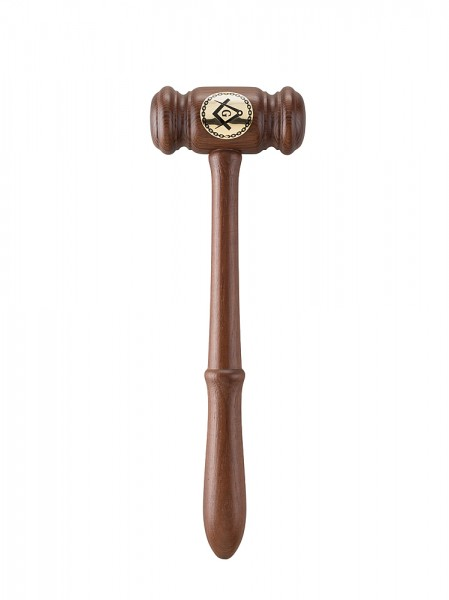 Gavel with a brass plaque