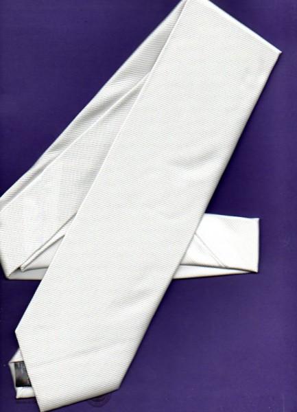 Krawatte, weiß